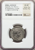 Ancients:Roman Provincial , Ancients: SYRIA. Antioch. Caracalla (AD 198-217). BI tetradrachm(13.62 gm). NGC Choice XF 5/5 - 4/5. ...