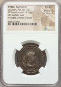 Ancients:Roman Provincial , Ancients: SYRIA. Antioch. Volusian (AD 251-253). BI tetradrachm(14.58 gm). NGC Choice XF 5/5 - 3/5. ...