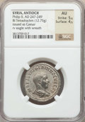 Ancients:Roman Provincial , Ancients: SYRIA. Antioch. Philip II (AD 247-249). BI tetradrachm(12.75 gm). NGC AU 5/5 - 4/5. ...
