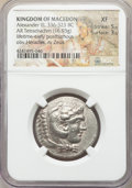 Ancients:Greek, Ancients: MACEDONIAN KINGDOM. Alexander III the Great (336-323 BC).AR tetradrachm (16.93 gm). NGC XF 5/5 - 3/5....