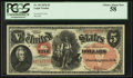 Large Size:Legal Tender Notes, Fr. 69 $5 1878 Legal Tender PCGS Choice About New 58.. ...