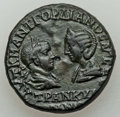 Ancients:Roman Provincial , Ancients: THRACE. Mesembria. Gordian III (AD 238-244), withTranquillina. AE24 (11.25 gm). About XF....