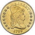 Early Eagles, 1799 $10 Small Obverse Stars, BD-8, R.5 -- Damage -- PCGS Genuine. AU Details....