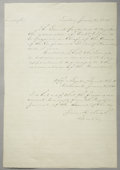 Military & Patriotic:Civil War, NOMINATION PAPER FOR ROBERT E. LEE AS GENERAL IN CHIEF OF THE CONFEDERACY - INITIALED BY PRESIDENT JEFFERSON DAVIS....