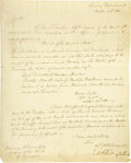 """Autographs:Statesmen, Secretary of the Treasury Albert Gallatin Letter Signed, one page,8"""" x 10"""", D.C., October 22, 1801, to William Whann. This... (Total:1 Item)"""