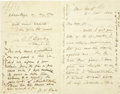 "Autographs:Military Figures, Union General Nathaniel Banks Autograph Letter Draft Signed, ""N.P. Banks,"" twice, four pages, 4.5"" x 7"", New York City,...(Total: 1 Item)"
