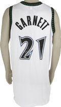 Basketball Collectibles:Others, Kevin Garnett Signed Minnesota Timberwolves Jersey UDA. A perennialAll-Star while a member of the Minnesota Timberwolves, ...