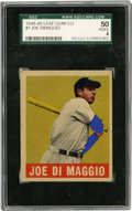 Baseball Cards:Singles (1940-1949), 1948-49 Leaf Joe DiMaggio #1 SGC VG-EX 50. This important #1 cardfrom the desirable 1948-49 Leaf baseball issue gets bonus...