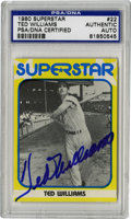 Autographs:Sports Cards, 1980 Superstar Ted Williams #22 Signed Card, PSA Authentic. The Splendid Splinter has applied a simply alluring exemplar of...