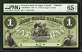 Canadian Currency: , Toronto, ON- Bank of Upper Canada $1 Ch. # 770-22-02-02P Face Proof.. ...