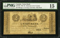 Canadian Currency: , Montreal, LC- Union Bank $2 Aug. 1, 1838 Ch. # 725-14-04. ...