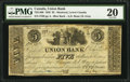 Canadian Currency: , Montreal, LC- Union Bank $5 Aug. 1, 1838 Ch. # 725-14-06.. ...