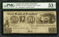 Canadian Currency, Hamilton, UC- Gore Bank of Hamilton $20 1837 Ch. # 325-10-04RRemainder.. ...