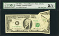 Error Notes:Foldovers, Fr. 2028-F $10 1988A Federal Reserve Note. PMG About Uncirculated55 EPQ.. ...