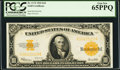 Large Size:Gold Certificates, Fr. 1173 $10 1922 Gold Certificate PCGS Gem New 65PPQ.. ...