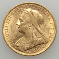 Australia, Australia: Victoria gold Sovereign 1899-M AU - Surface Hairlines, ...