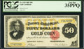 Large Size:Gold Certificates, Fr. 1193 $50 1882 Gold Certificate PCGS Very Fine 35PPQ.. ...
