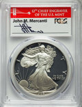 1986-S $1 Silver Eagle, John M. Mercanti Signature, PR70 Deep Cameo PCGS. 1 of 500. PCGS Population: (0). NGC Census: (0...