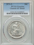 Seated Half Dollars: , 1876-S 50C -- Cleaning -- PCGS Genuine. AU Details. NGC Census: (7/157). PCGS Population: (32/225). AU50. Mintage 4,528,000...