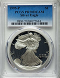 Modern Bullion Coins, 1995-P $1 Silver Eagle PR70 Deep Cameo PCGS. PCGS Population: (1364). NGC Census: (1359). CDN: $220 Whsle. Bid for problem-...