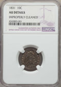 Bust Dimes: , 1831 10C -- Improperly Cleaned -- Details NGC. AU. NGC Census:(6/232). PCGS Population: (32/266). AU50. Mintage 771,350. ...