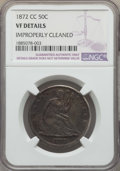 Seated Half Dollars: , 1872-CC 50C -- Improperly Cleaned -- Details NGC. VF. NGC Census: (2/63). PCGS Population: (13/136). CDN: $1,000 Whsle. Bid...