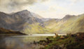 Paintings, ALFRED DE BREANSKI (British 1852-1928). Loch Lomond and Loch Katrine. Oil on canvas. 24 x 42 inches (61.0 x 106.7 cm). S...