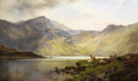 ALFRED DE BREANSKI (British 1852-1928) Loch Lomond and Loch Katrine Oil on canvas 24 x 42 inches