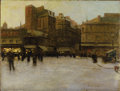 Fine Art - Painting, European:Antique  (Pre 1900), LUIGI LOIR (French 1845-1916). La Place du Delta, Paris. Oilon canvas. 19-3/4 x 25-3/4 inches (50.2 x 65.4 cm). Signed ...