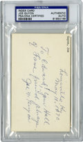 Football Collectibles:Balls, Joe Guyon Signed Index Card PSA Authentic. After playing on Georgia Tech's national championship team in 1917, Joe signed t...