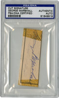 Football Collectibles:Balls, George P. Marshall Cut Signature, PSA Authentic. The Hall of Fame former owner and president of the Washington Redskins, Ge...