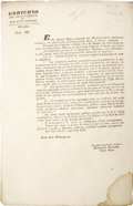 Political:Miscellaneous Political, [Circular] An Extremely Rare Proclamation Reinforcing Mexico'sAbolition of Slavery....