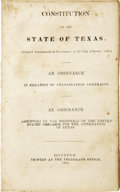 Books:Non-fiction, TEXAS (Republic). An Ordinance in relation to Colonization Contracts. An Ordinance assenting to the Proposals of the Uni...