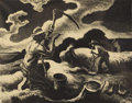 Prints, THOMAS HART BENTON (American 1889-1975). Island Hay, circa 1945. Lithograph. Associated American Artists published. 10-1...