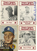 Autographs:Sports Cards, Miscellaneous Baseball Autographed Cards Group Lot of 4. Quartet ofsigned cards features 1953 Topps #147 Warren Spahn (HOF)...