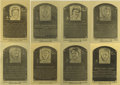 Baseball Cards:Lots, 1981-89 Hall of Fame Metallic Plaque-cards Lot of 8. Issued by theNational Baseball Hall of Fame & Museum, these metallic b...