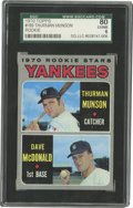 Baseball Cards:Singles (1970-Now), 1970 Topps Baseball Yankees Rookies #189 T. Munson/D. McDonald SGCEX-NM 6. Rookie card for the popular New York Yankees cat...