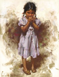 Works on Paper, HARLEY BROWN (American b. 1939). Young Indian Girl, 1984. Pastel on paper. 23 x 17-1/2 inches (58.4 x 44.5 cm) (sight). ...