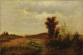 Fine Art - Painting, American:Antique  (Pre 1900), AMERICAN SCHOOL (Nineteenth Century) . Autumn Landscape. Oilon canvas. 12 x 18 inches (30.5 x 45.7 cm). Unsigned. ...
