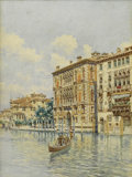Fine Art - Painting, European, MARTÍN RICO Y ORTEGA (Spanish 1833-1908). Venice, View of a Canal. Watercolor on paper. 16-1/2 x 13 inches (41.9 x 33.0 ...