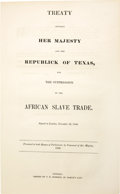 Books:Non-fiction, Treaty Between Great Britain and Texas for the Suppression of theSlave Trade...