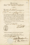 Miscellaneous:Ephemera, [German Immigrants in Texas] Partly-printed Document Signed....