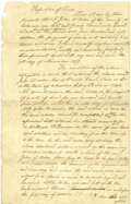 Political:Miscellaneous Political, Texas Republic Manuscript Document Regards Real Estate TransactionBetween John W. Oden and David Wade,...