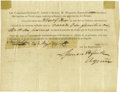Miscellaneous:Ephemera, Certificate of Admission Into Austin and Williams Colony ...