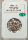 Commemorative Silver, 1938-D 50C Oregon MS66 NGC. CAC. NGC Census: (577/272). PCGSPopulation: (735/311). CDN: $275 Whsle. Bid for problem-free N...