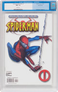 Modern Age (1980-Present):Superhero, Ultimate Spider-Man #1 Variant Cover (Marvel, 2000) CGC NM+ 9.6White pages....