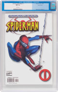 Modern Age (1980-Present):Superhero, Ultimate Spider-Man #1 (Variant Cover) (Marvel, 2000) CGC NM 9.4White pages....