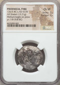 Ancients:Greek, Ancients: PHOENICIA. Tyre. Ca. 126/5 BC-AD 67/8. AR shekel (13.21gm). NGC Choice VF 3/5 - 3/5....