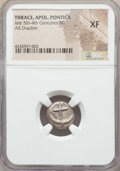 Ancients:Greek, Ancients: THRACE. Apollonia Pontica. Ca. Late 5th-4th centuries BC.AR drachm. NGC XF....