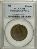 1783 1C Washington Unity States Cent XF45 PCGS....(PCGS# 689)